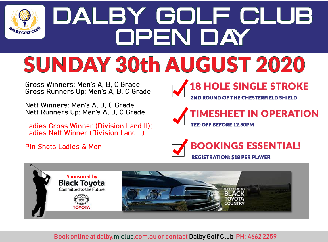 Dalby Golf Open Day